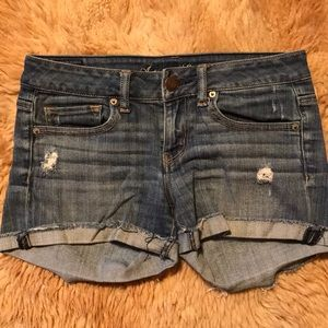 Distressed American Eagle shorts, size 4